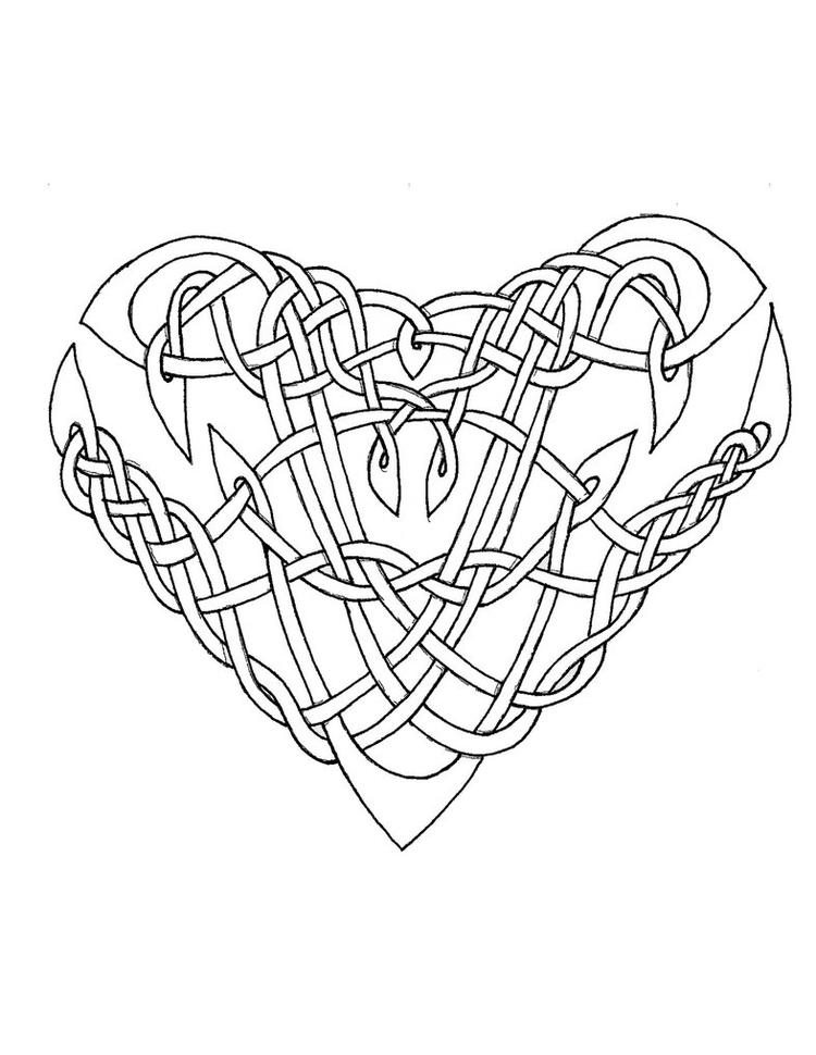 Celtic Heart Coloring Pages