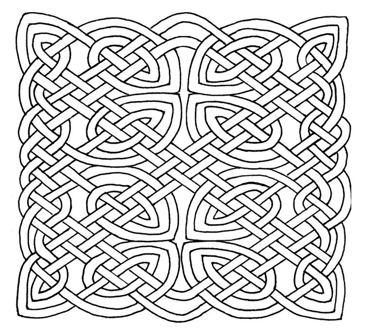 Celtic Knot Coloring Pages To Print