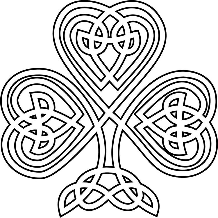 Celtic Shamrock Coloring Sheet