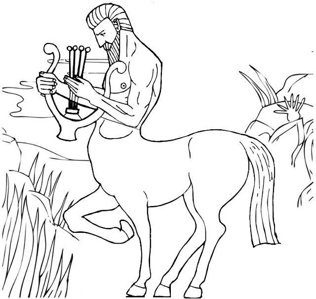 Centaur Playing Lute Coloring Pages