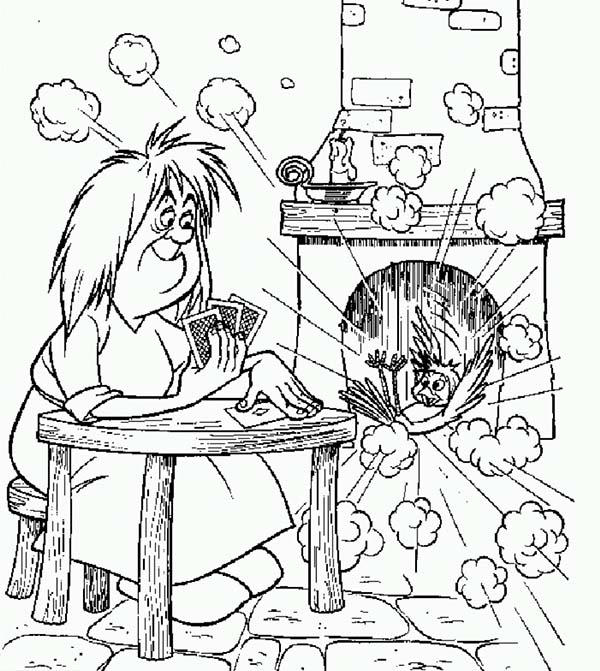 Chaos In Merlin The Wizard Kitchen Coloring Pages