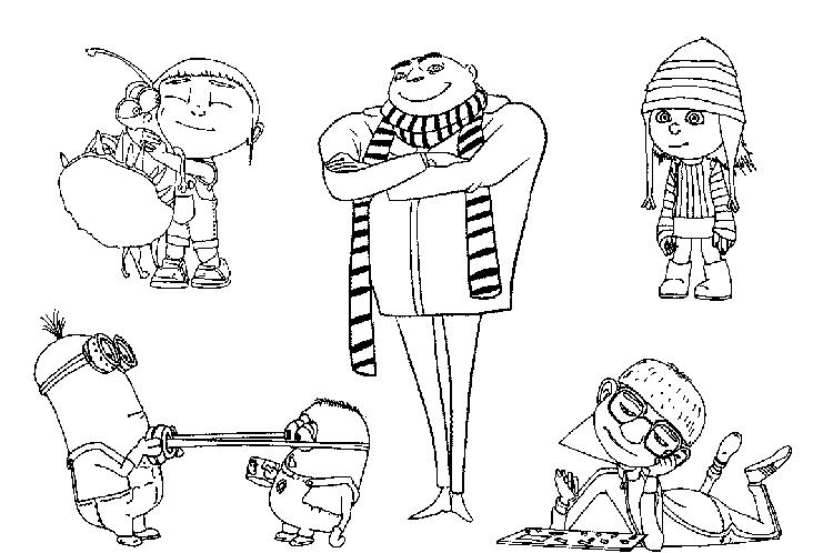 Characters In Despicable Me Coloring Pages Free