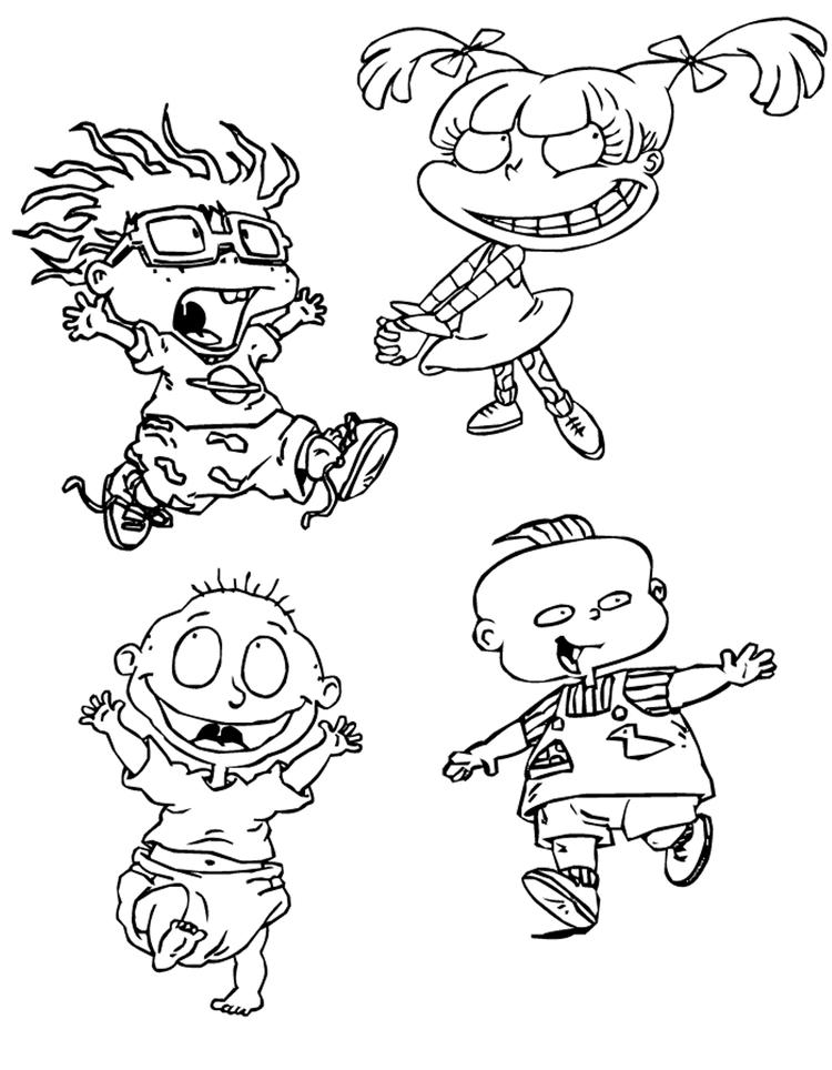 Characters In Rugrats Coloring Pages