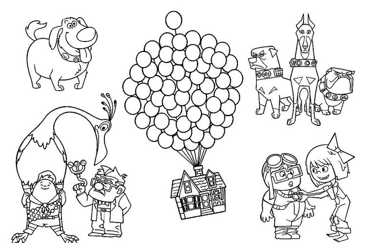 Characters In Up Coloring Pages