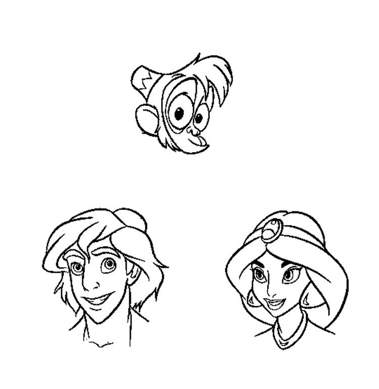 Characters Of Aladdin Coloring Pages