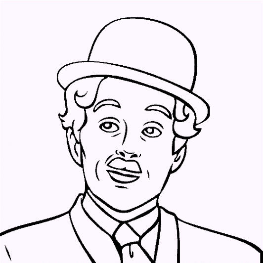 Charles Chaplin Coloring Pages