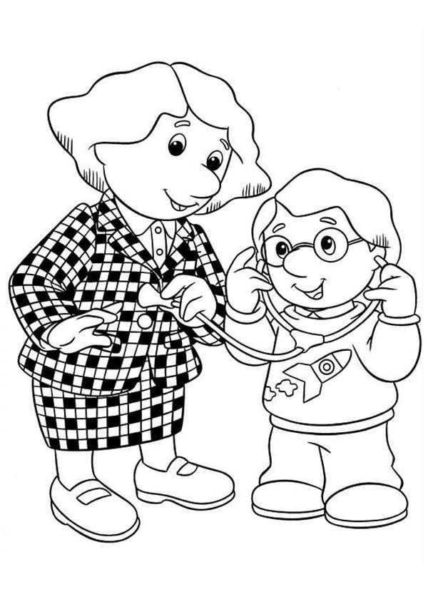 Charlie Playing Doctor With His Mother In Postman Pat Coloring Pages