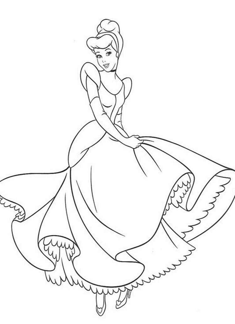 Charming Cinderella Coloring Pages For Kids