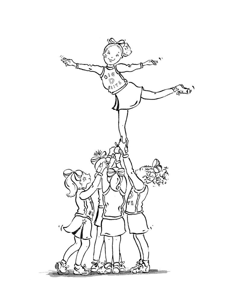 Cheerleading Coloring Pages For Girl