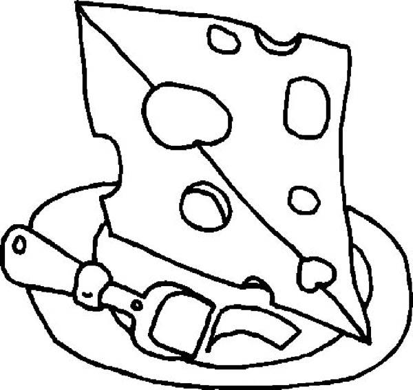 Cheese For Cake Food Coloring Pages