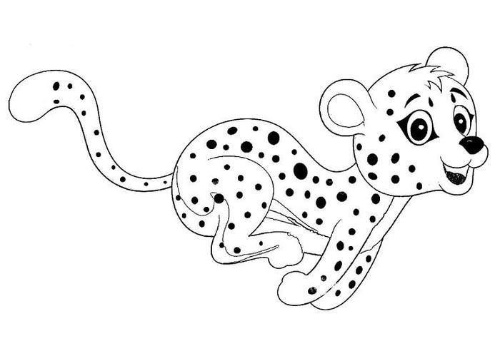 Cheetah Coloring Pages For Toddlers