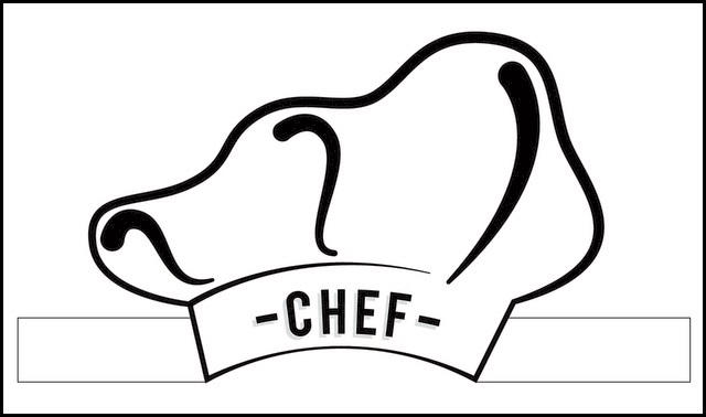 Chef Hat Coloring Sheet