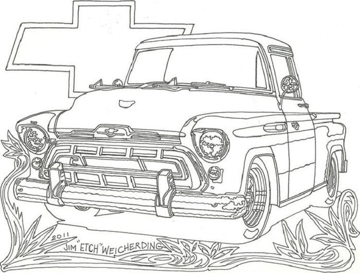 Chevrolet Truck Coloring Pages