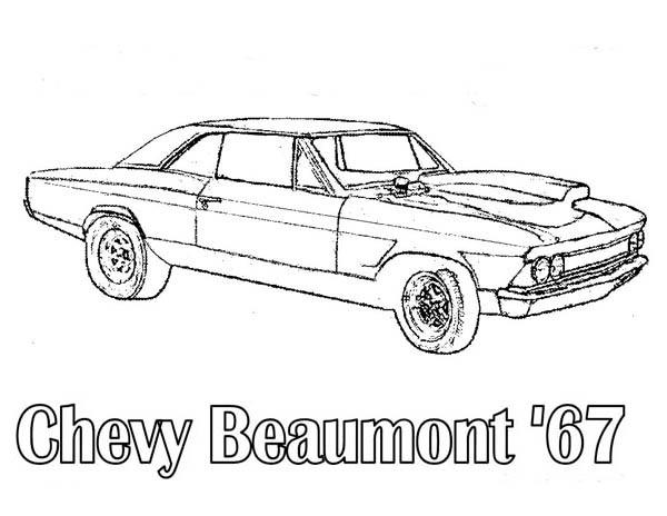 Chevy Beaumont 67 Classic Cars Coloring Pages
