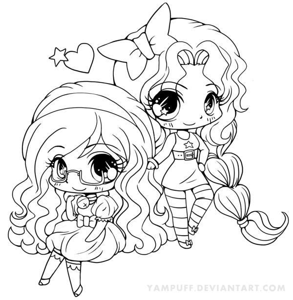 Chibi Anime Girls Coloring Pages
