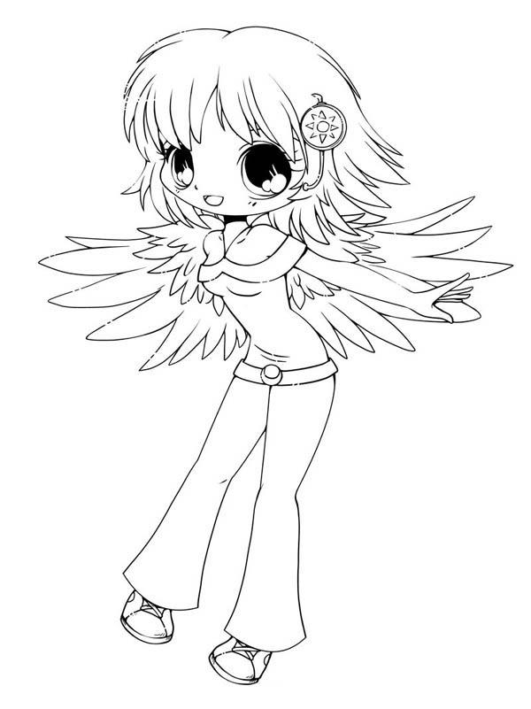 Chibi Coloring Pages Anime Angel