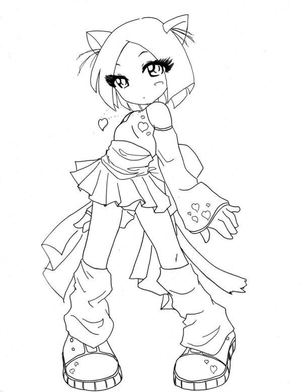 Chibi Coloring Pages Cat Girl