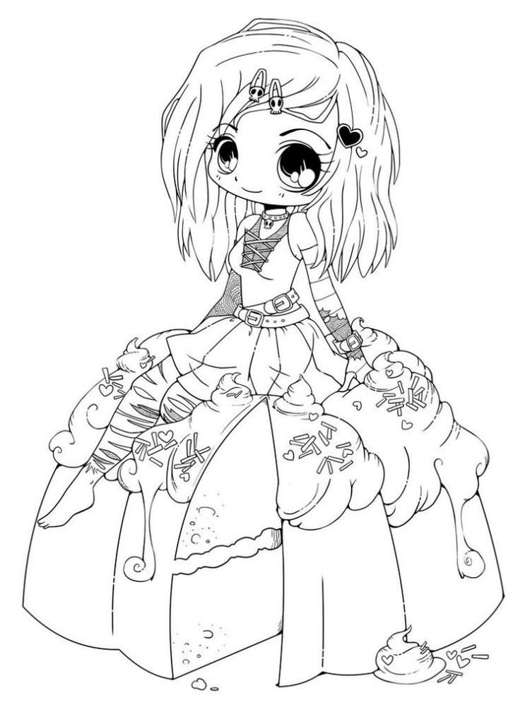Chibi coloring pages emo