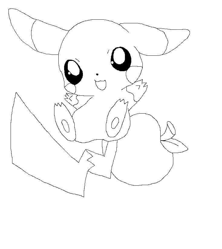 Chibi Coloring Pages Pikachu