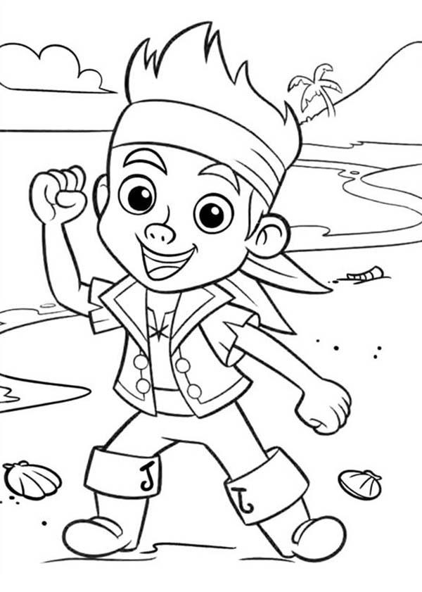 Chibi Jake Neverland Pirate Coloring Pages