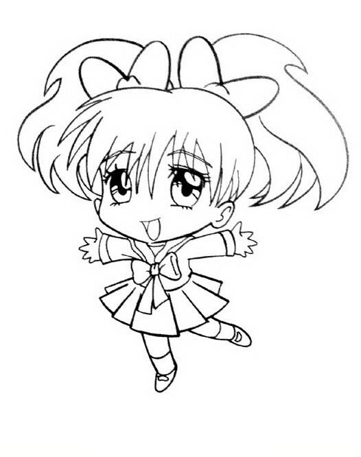 Chibi Manga Coloring Pages