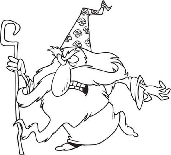Chibi Merlin The Wizard Is Angry Coloring Pages