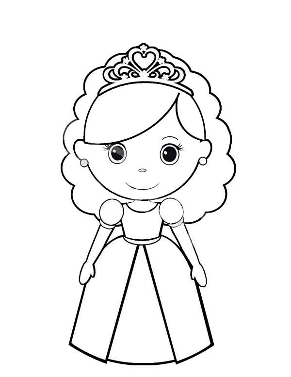 Chibi Princesses Birthday Coloring Pages