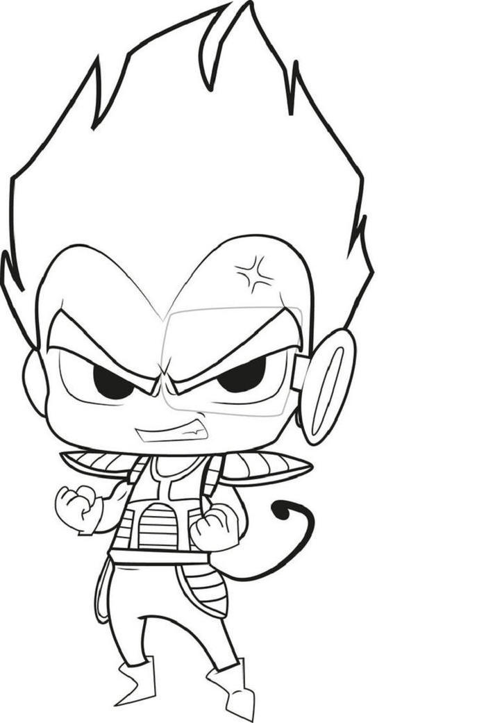 Chibi Vegeta Dragon Ball Z Coloring Pages