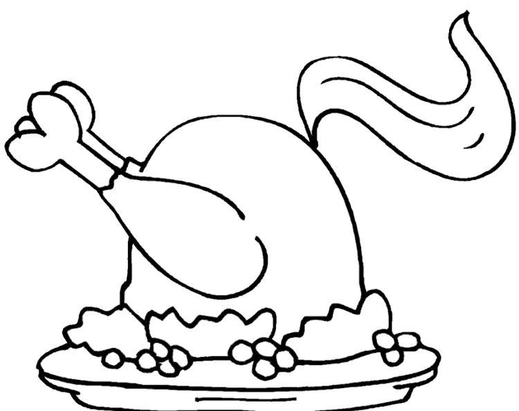 Chicken Coloring Pages Cooked