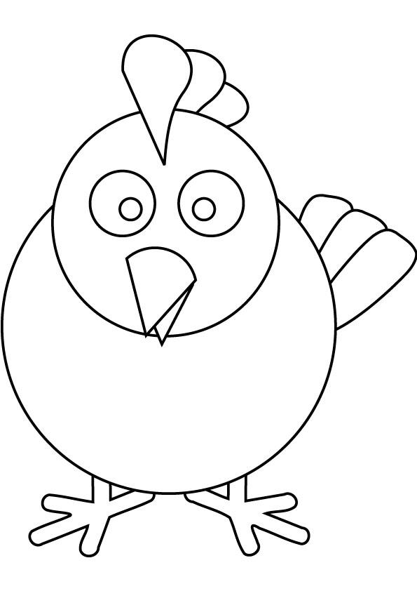Chicken Coloring Pages For Preschool