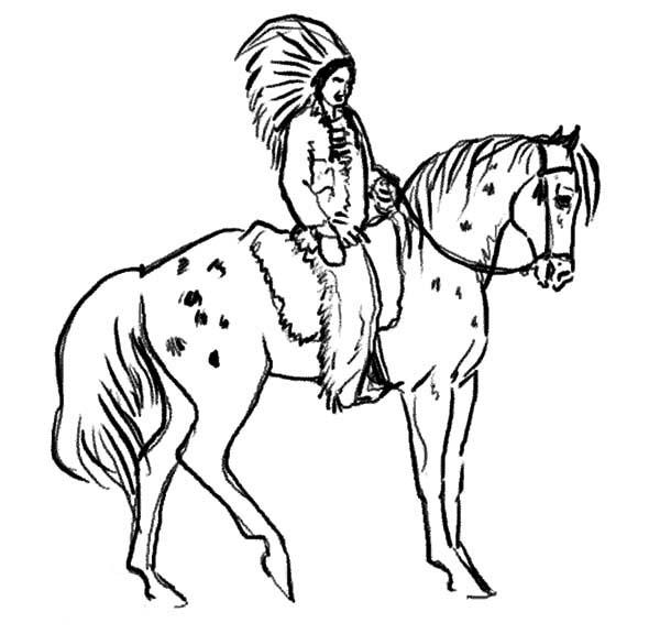 Chief Ride Appalooshorse Coloring Pages
