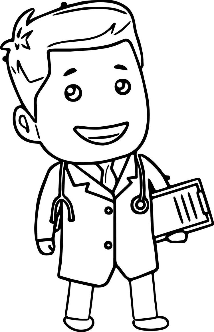 Child Doctor Coloring Book