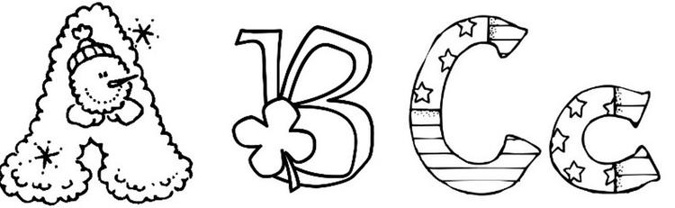 Child Fun Alphabet Coloring Pages Printable