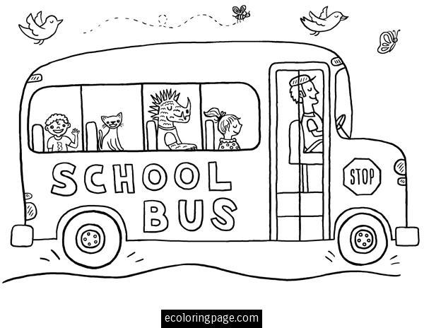 Child School Bus Coloring Pages