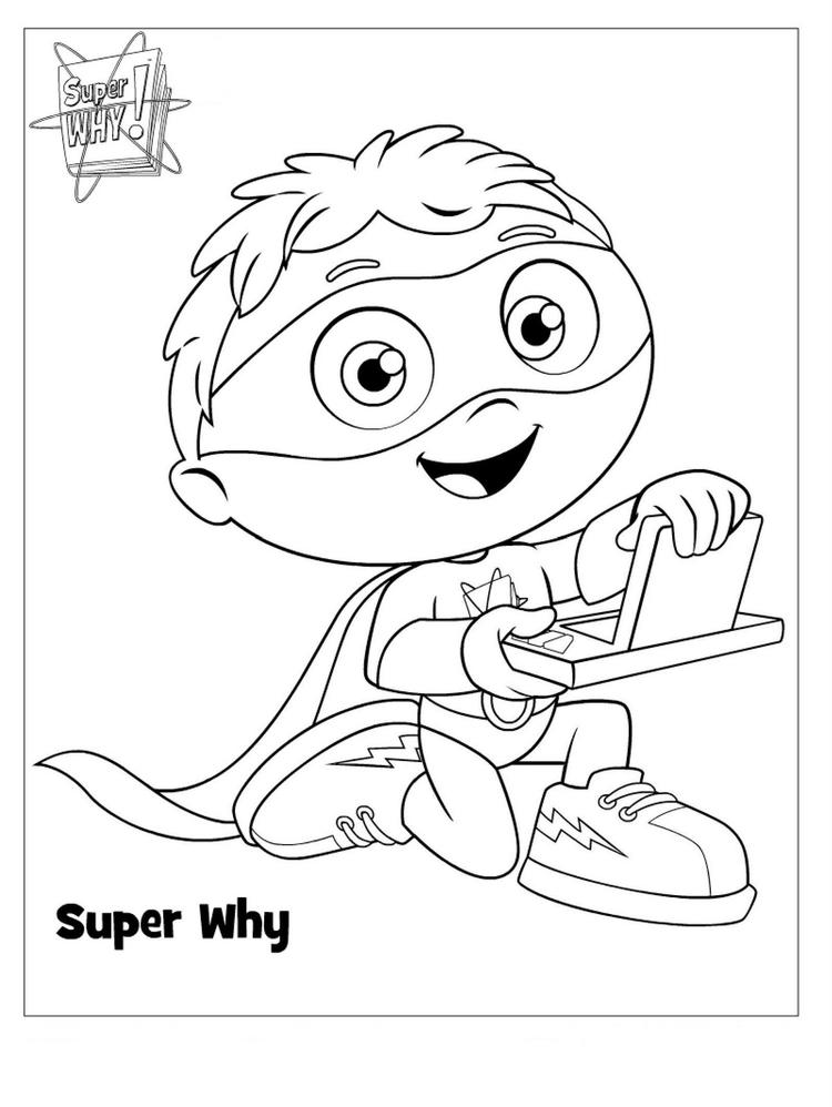 Child Super Why Coloring Pages