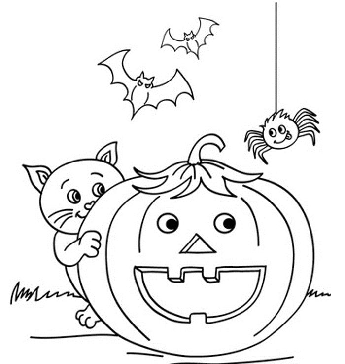 Childern Halloween Great Pumpkin Coloring Pages