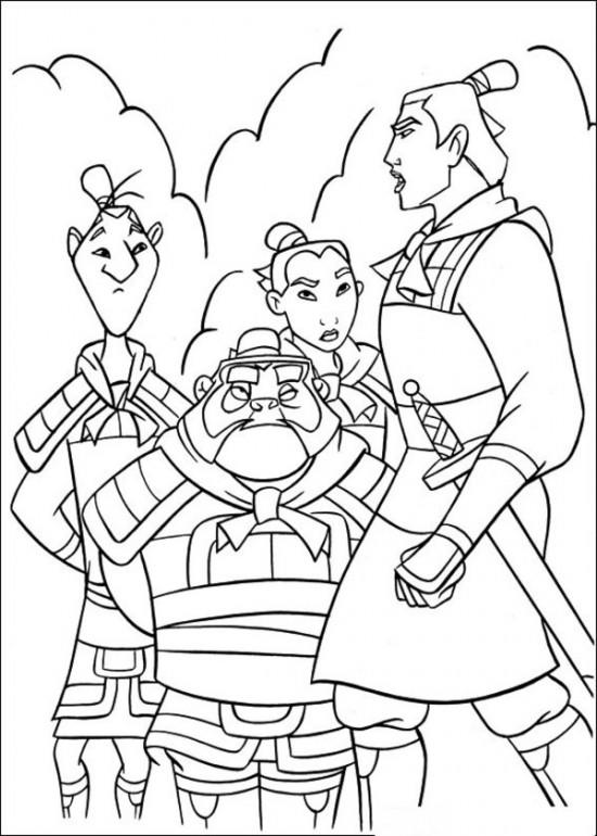 Childreen Mulan Coloring Pages