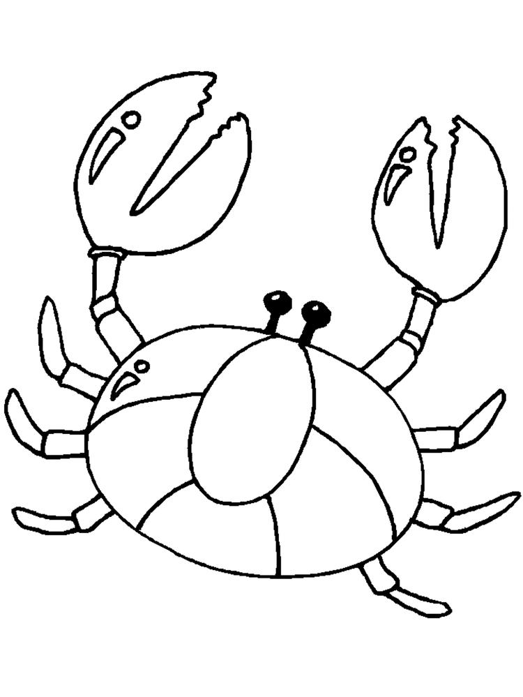 Children Crab Coloring Pages