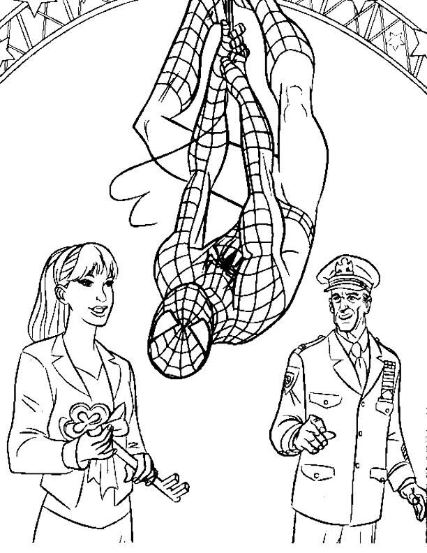 Children Marvel Coloring Pages Spiderman