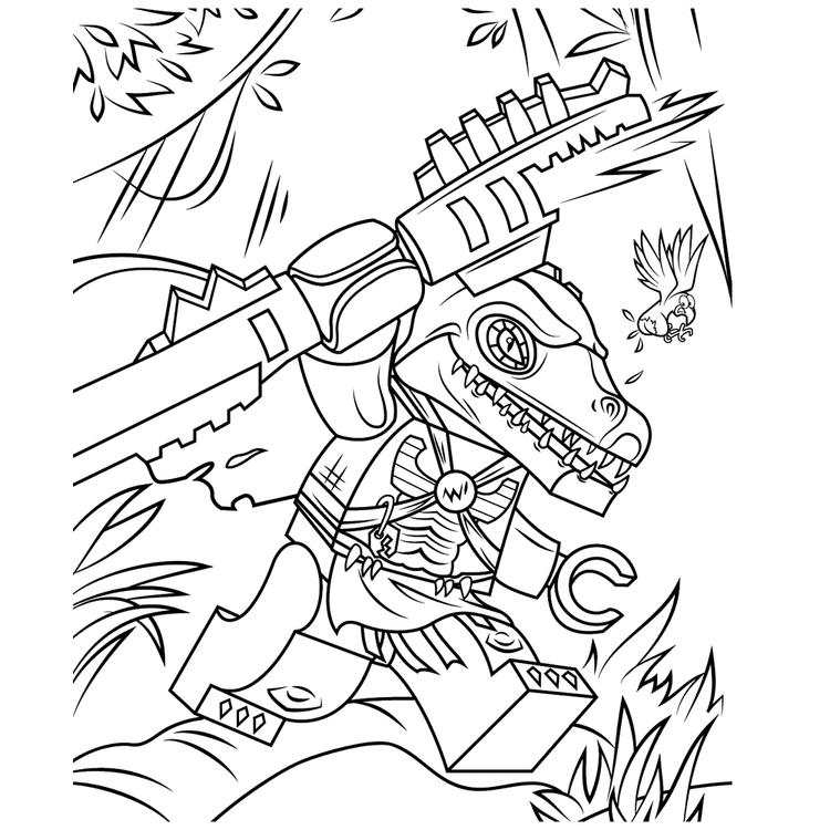 Chima Coloring Pages Cragger Crocs