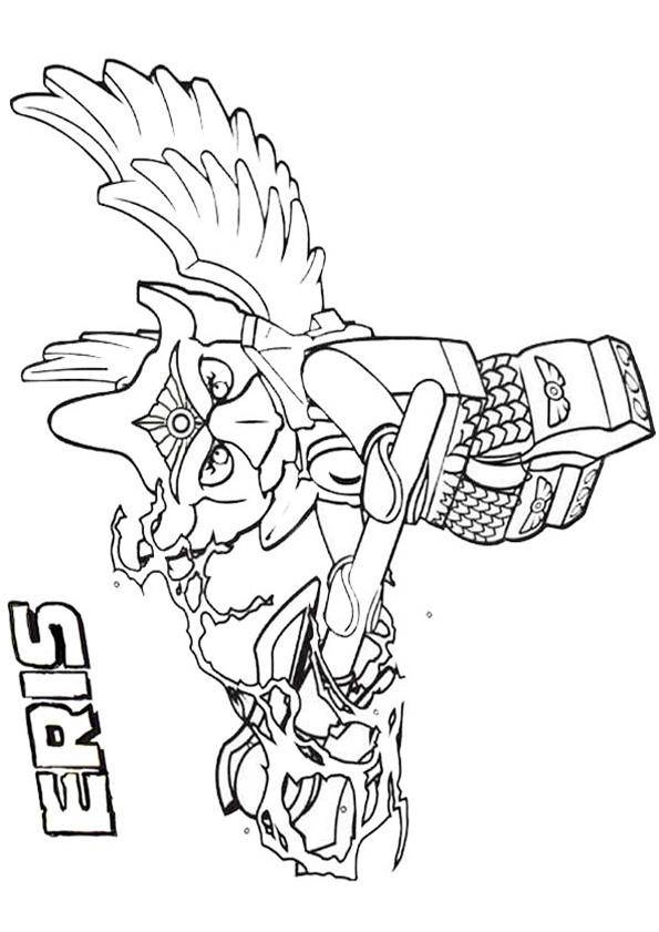 Chima Coloring Pages Eris Eagle