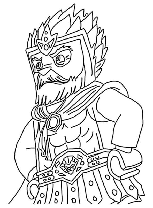 Chima Coloring Pages King Lagravis