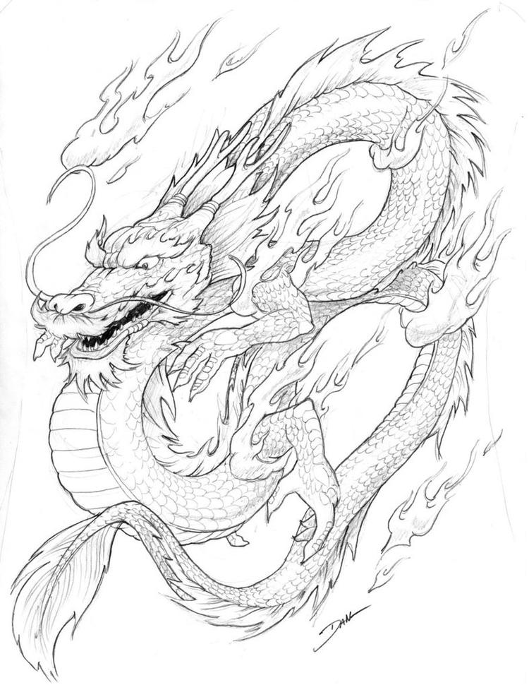 Chinese Dragon Coloring Pages For Children