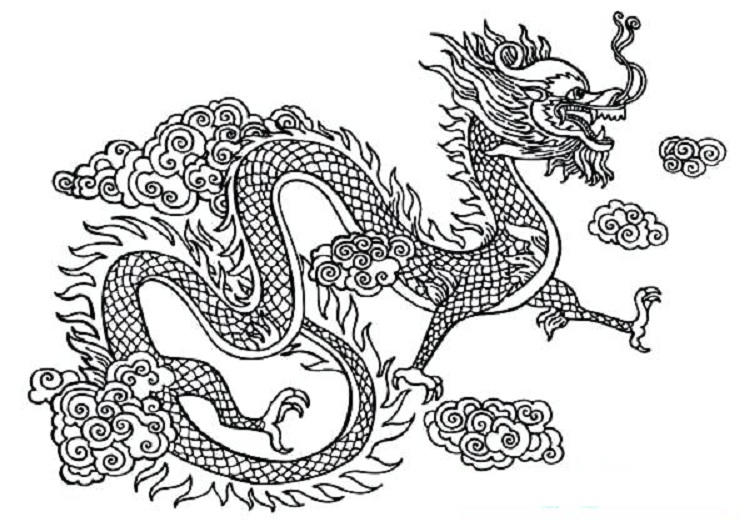 Chinese Dragon Coloring Pages To Print