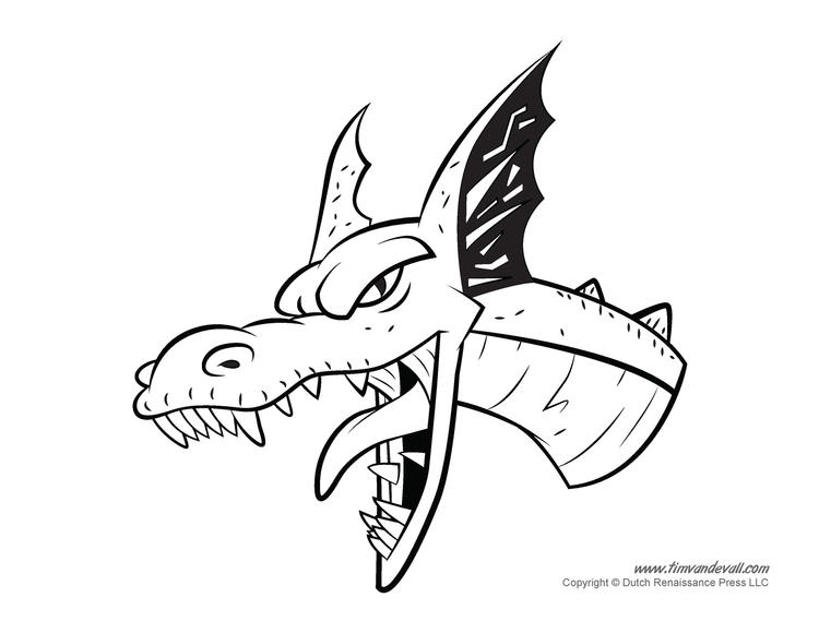 Chinese Dragon Head Coloring Pages 2