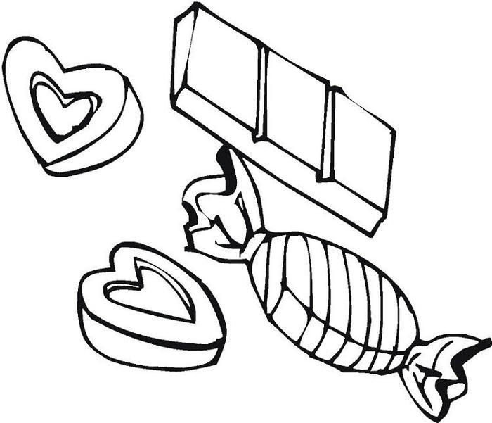 Chocolate Candy Coloring Pages