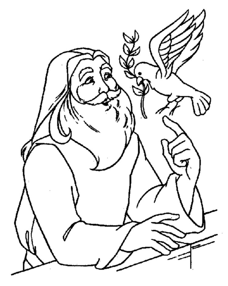 Christian Coloring Pages Jesus And Dove