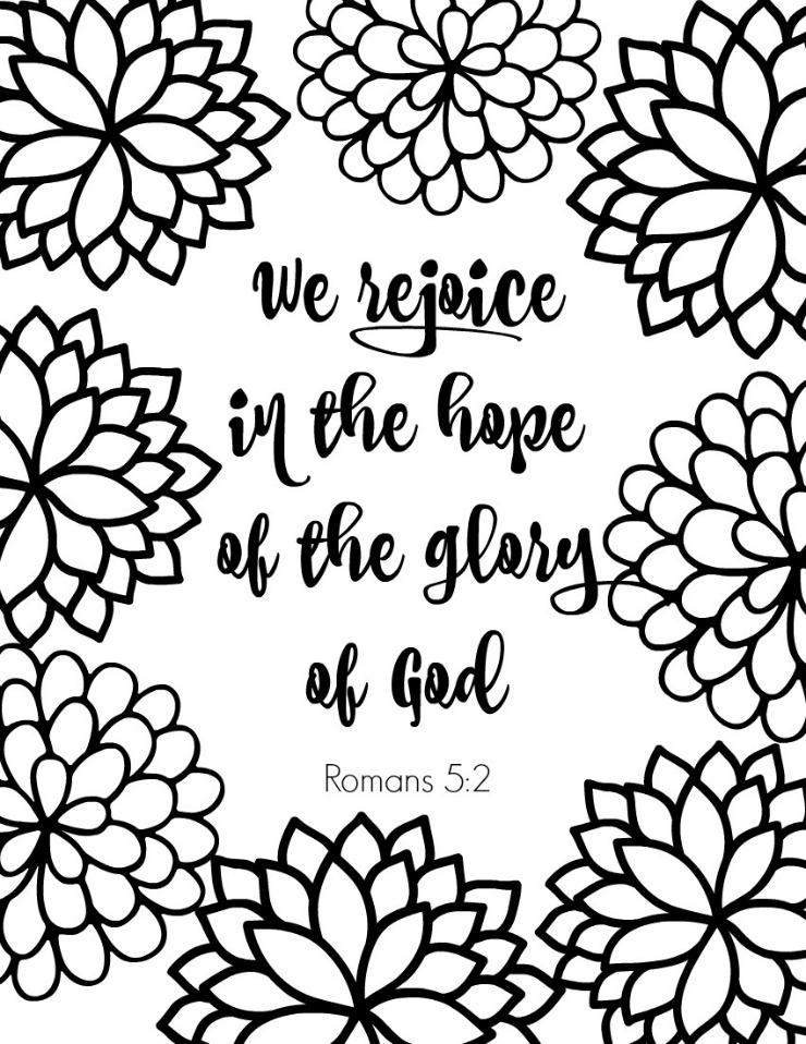 Christian Coloring Pages With Verses