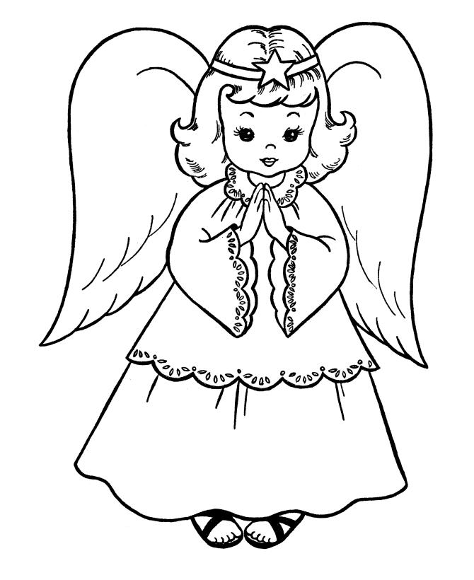 Christmas Angel Christmas Coloring Page