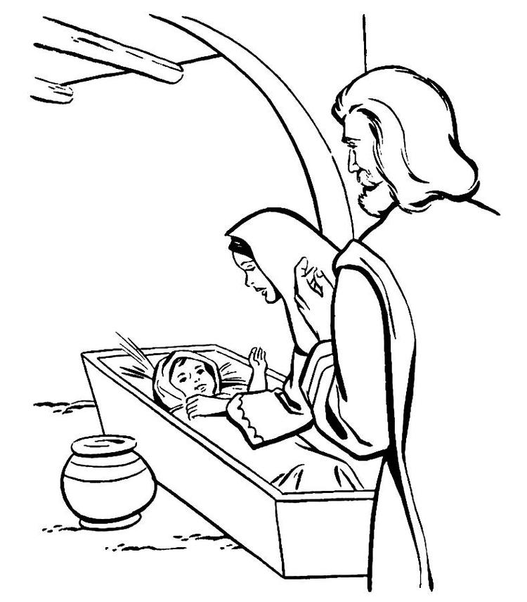 Christmas Birth Of Jesus Coloring Pages
